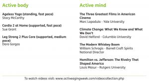 Active Aging Week Videos